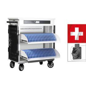 Laptopwagen Safecart 40 Pro+ nach schweizer Norm SEV-1011