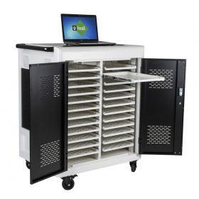 Laptopwagen - Safecart 24 PRO+ - Aufbewahrung von Notebooks im Büro