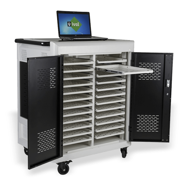 Laptopwagen Safecart 24 Pro Aufbewahrung Von Notebooks Im Buro